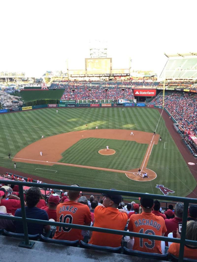 Seating view for Angel Stadium Section V517 Row A Seat 14