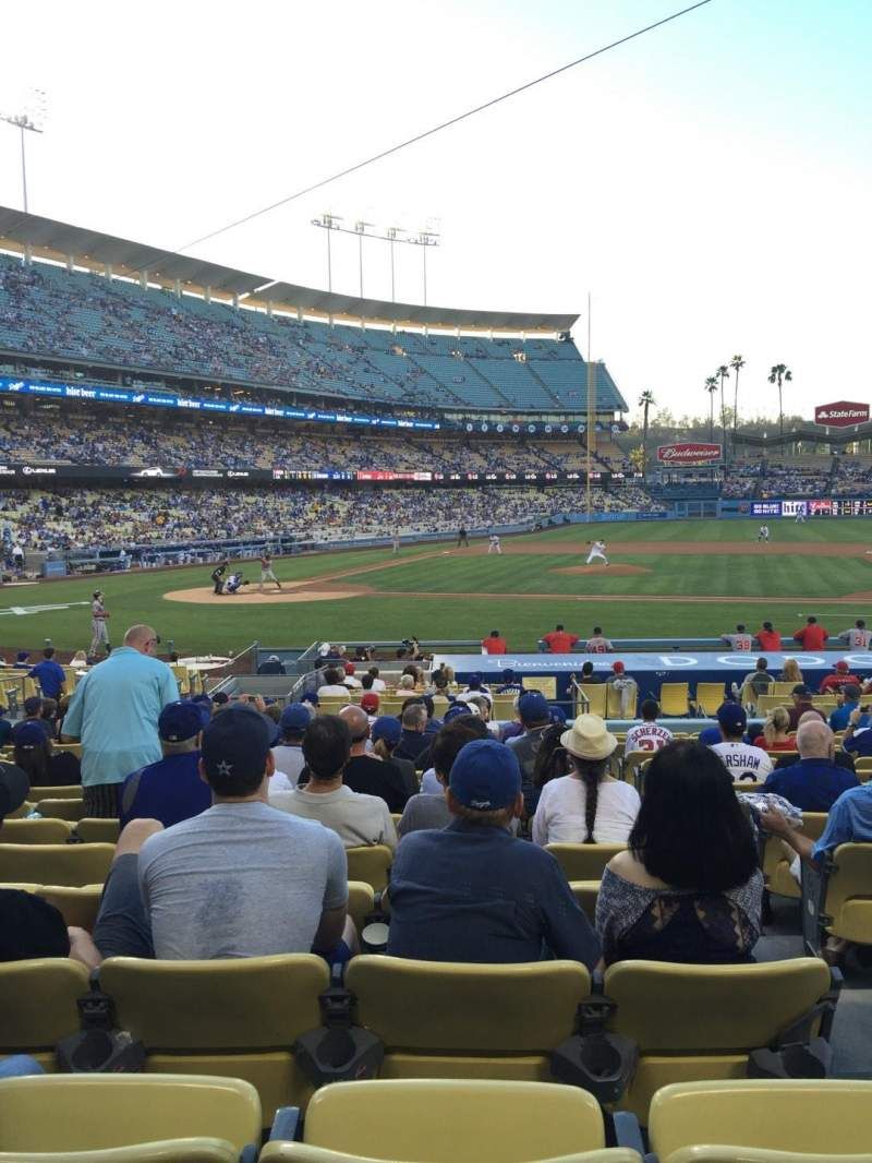 Seating view for Dodger Stadium Section 16FD Row P Seat 7