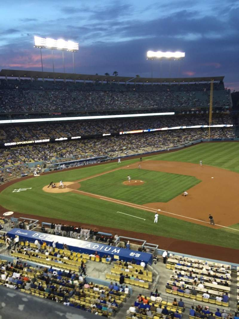 Seating view for Dodger Stadium Section 28RS Row A Seat 3