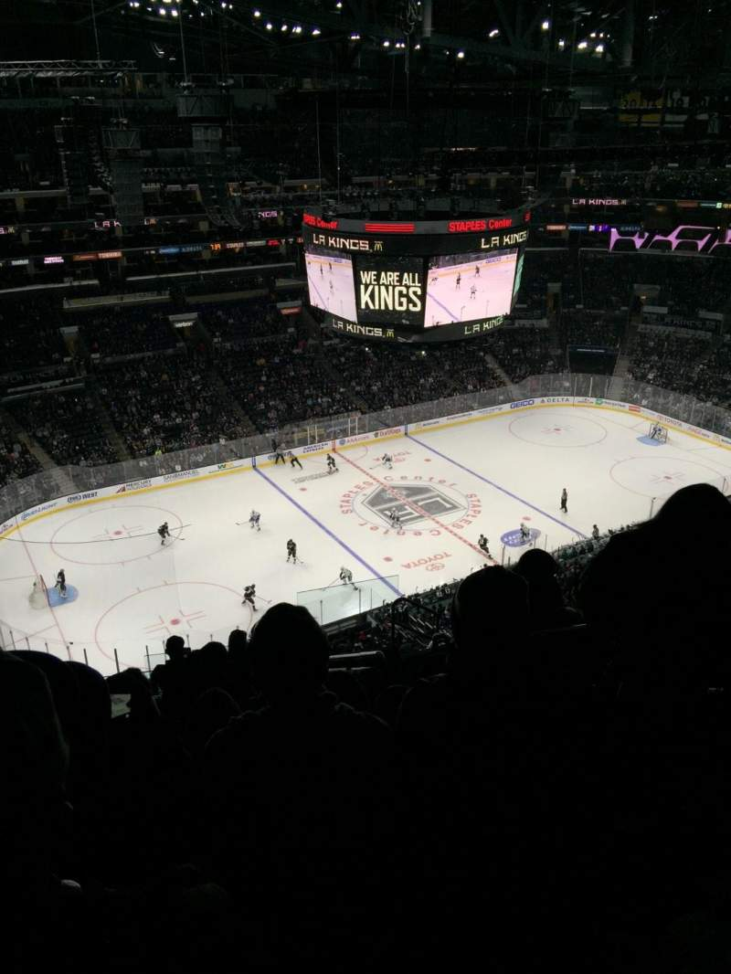 Seating view for Staples Center Section 304 Row 11 Seat 4