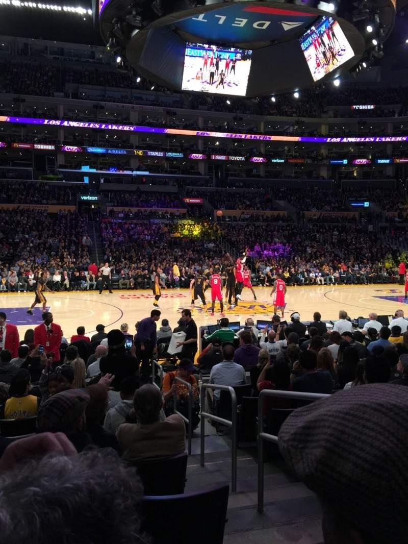 Seating view for Staples Center Section 102 Row 9 Seat 2