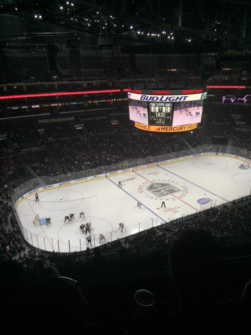 Seating view for Staples Center Section 304 Row 9 Seat 11