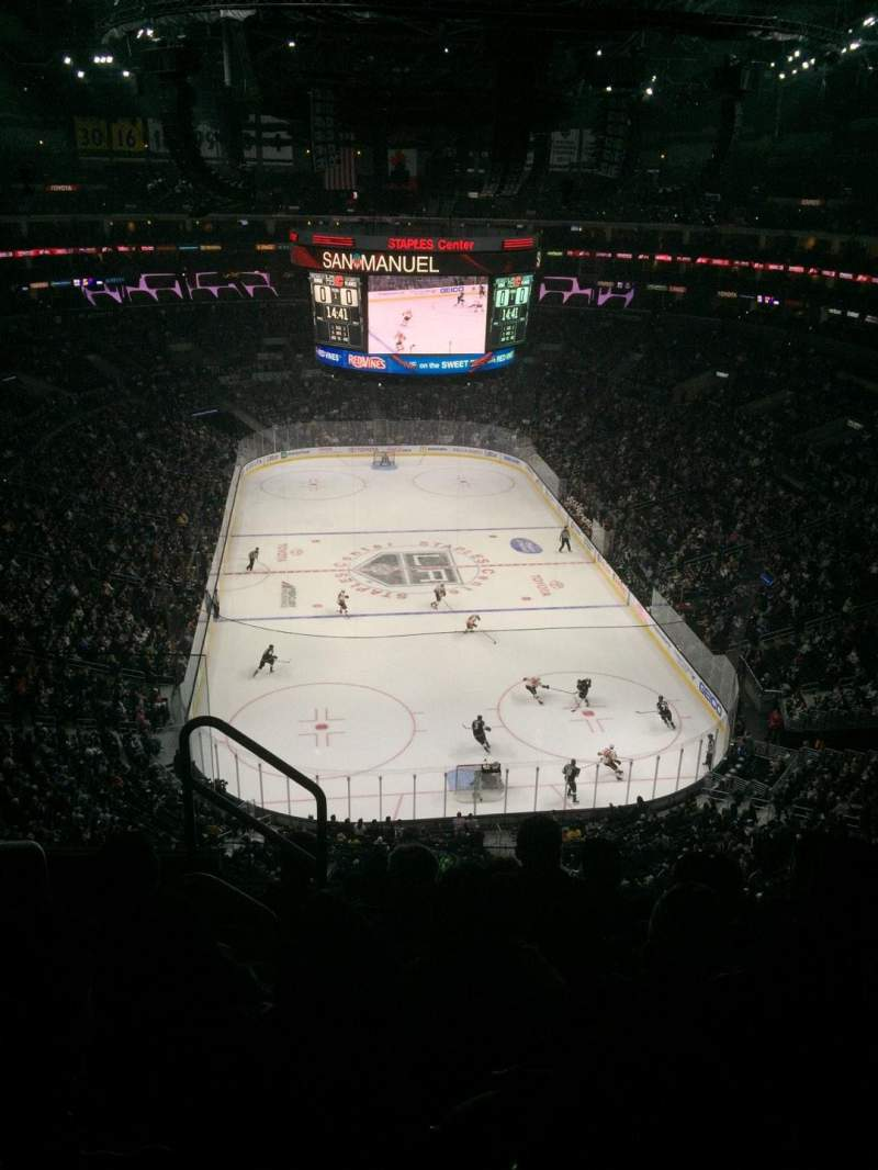 Seating view for Staples Center Section 310 Row 6 Seat 11
