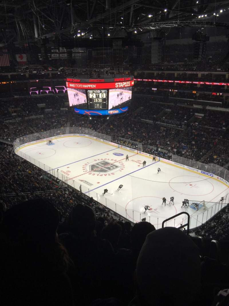 Seating view for Staples Center Section 314 Row 8 Seat 2
