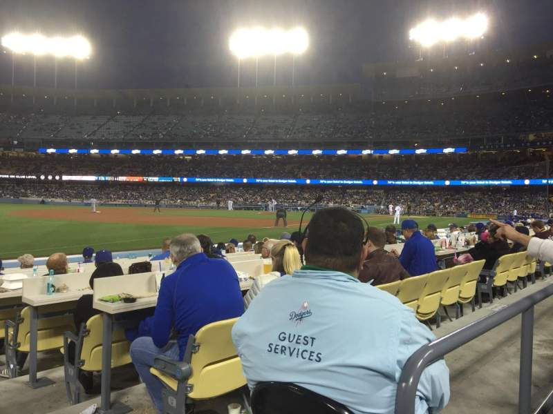 Seating view for Dodger Stadium Section 39FD Row A Seat 1