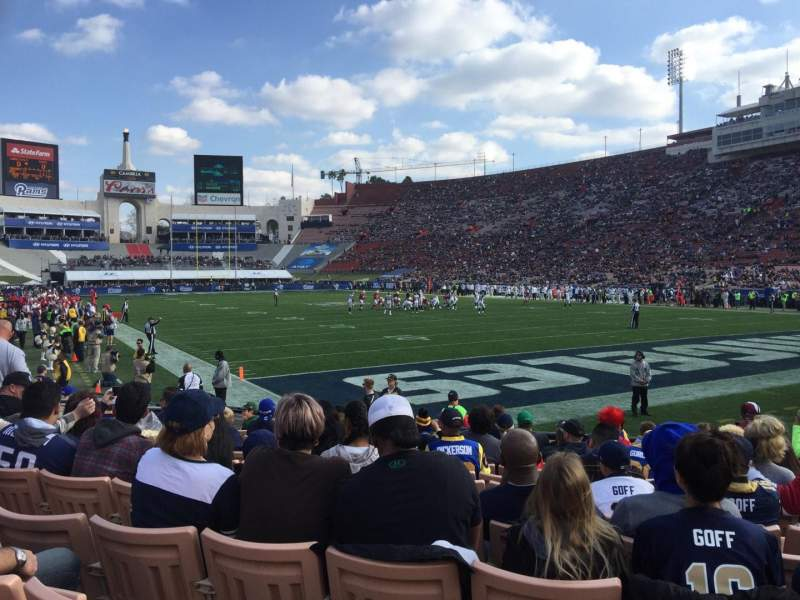Seating view for Los Angeles Memorial Coliseum Section 17L Row 11 Seat 8