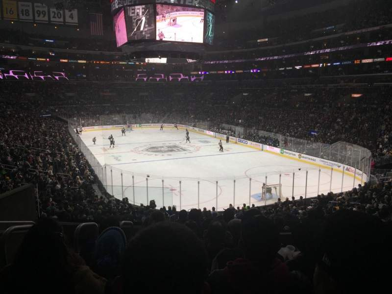 Seating view for Staples Center Section 209 Row 7 Seat 12