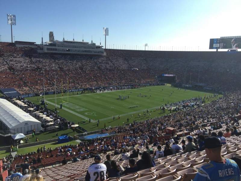 Seating view for Los Angeles Memorial Coliseum Section 27H Row 71 Seat 103