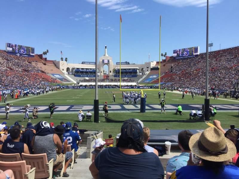 Los Angeles Memorial Coliseum, section: 15H, row: 13, seat: 101