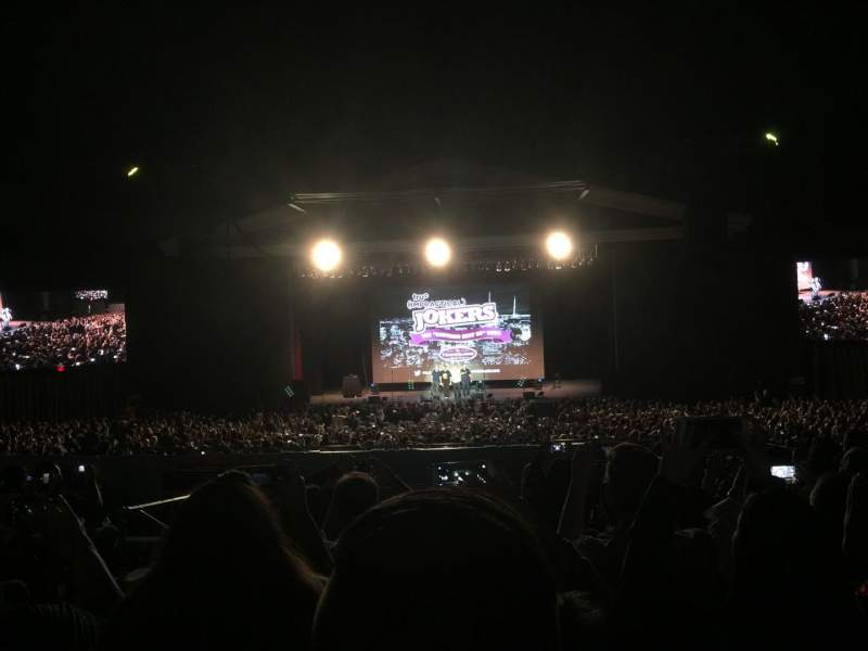 The Greek Theatre, section: B, row: H, seat: 108