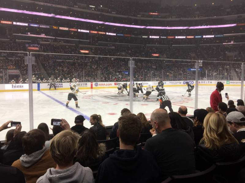 Seating view for Staples Center Section 112 Row 6 Seat 11