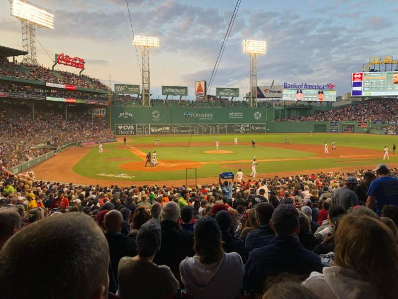 Seating view for Fenway Park Section Loge Box 125 Row MM Seat 8