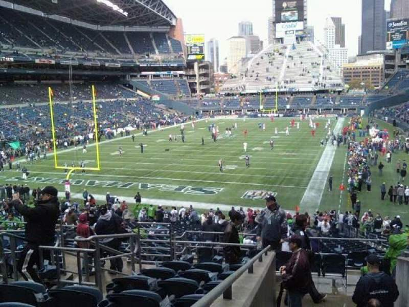 Seating view for Lumen Field Section 119 Row hh