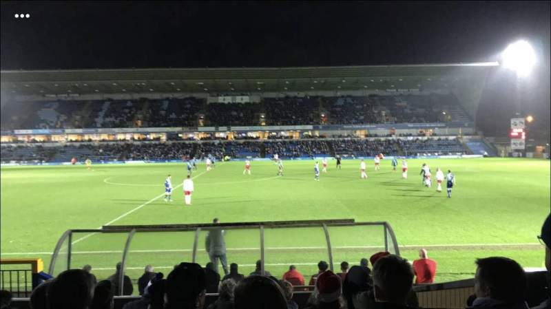 Adams Park, section: Beechdean Stand, row: Back Row D