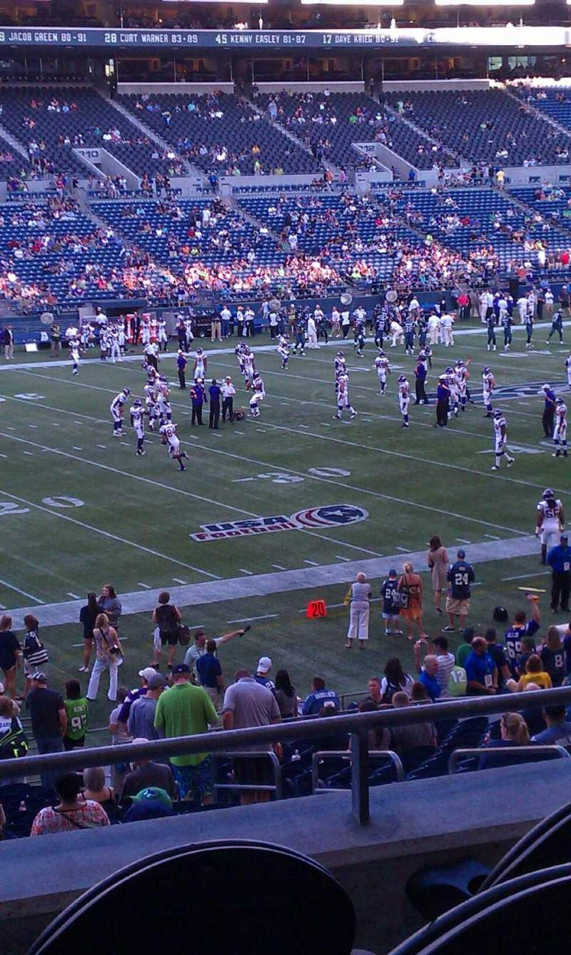 Seating view for CenturyLink Field Section 240 Row C Seat 5