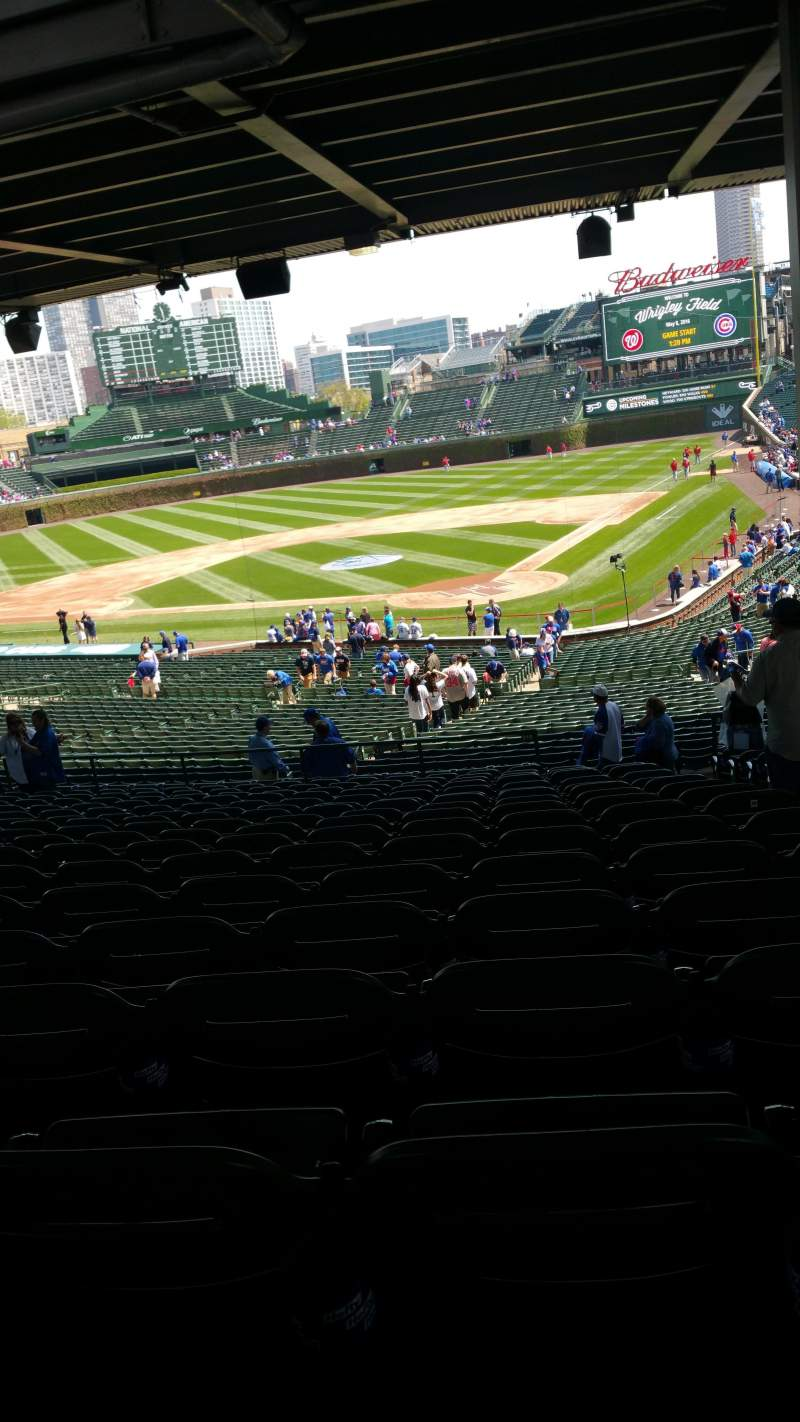 Seating view for Wrigley Field Section 219 Row 17 Seat 103
