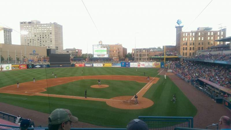 Seating view for Fifth Third Field Section 207 Row E Seat 1