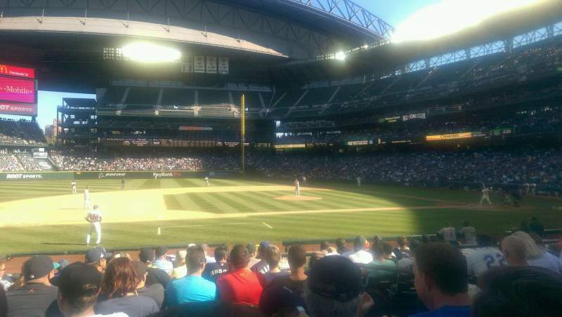 Seating view for T-Mobile Park Section 139 Row 15 Seat 3