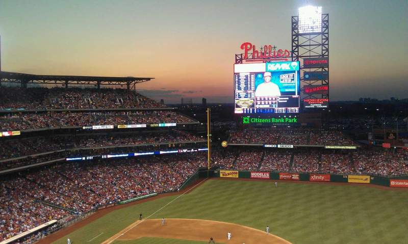 Seating view for Citizens Bank Park Section 416