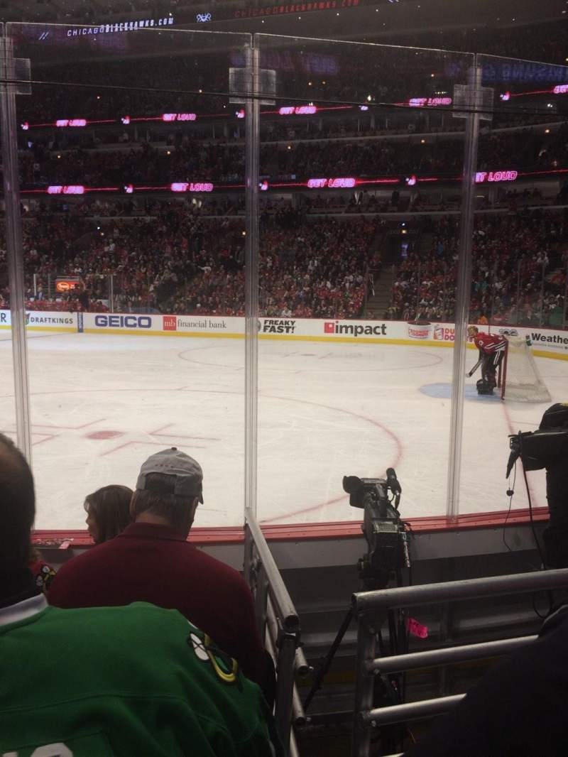 Seating view for United Center Section 109 Row 4 Seat 13