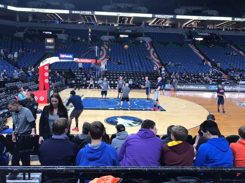 Seating view for Target Center Section 112 Row B Seat 13