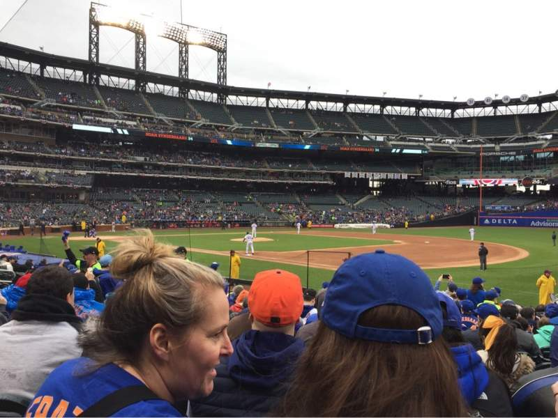 Seating view for Citi Field Section 110 Row 13 Seat 10