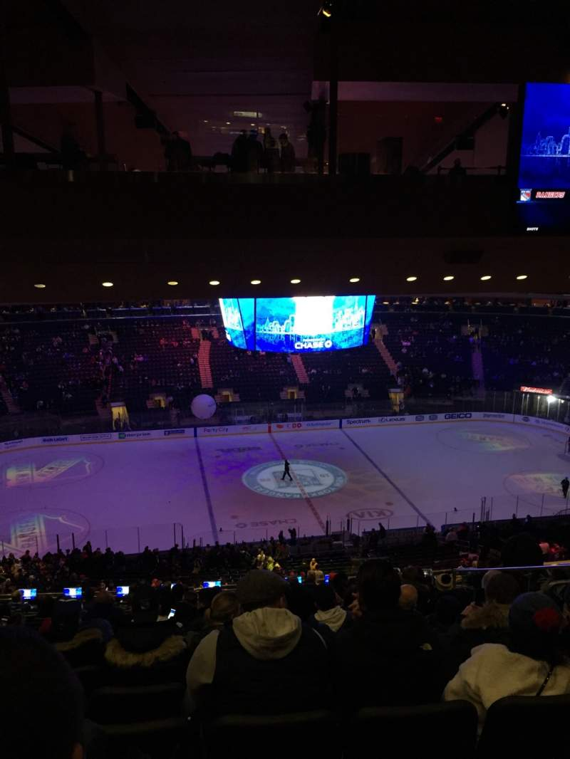 Seating view for Madison Square Garden Section 210 Row 18 Seat 13