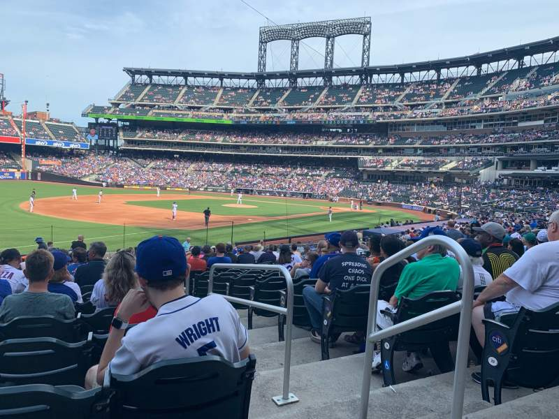 Seating view for Citi Field Section 126 Row 22 Seat 2