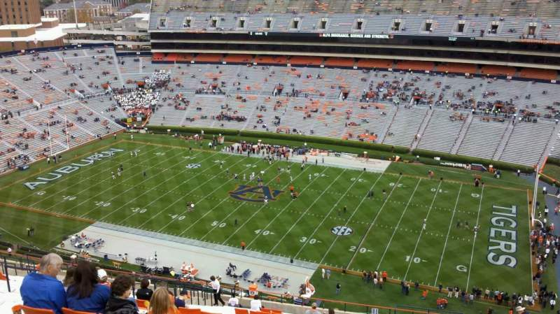Seating view for Jordan-Hare Stadium Section 59 Row 33 Seat 1