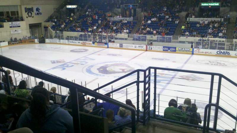 Seating view for Columbus Civic Center Section 209b Row P Seat 36