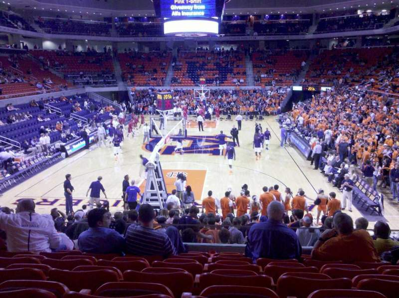 Seating view for Auburn Arena Section 107 Row 16 Seat 6