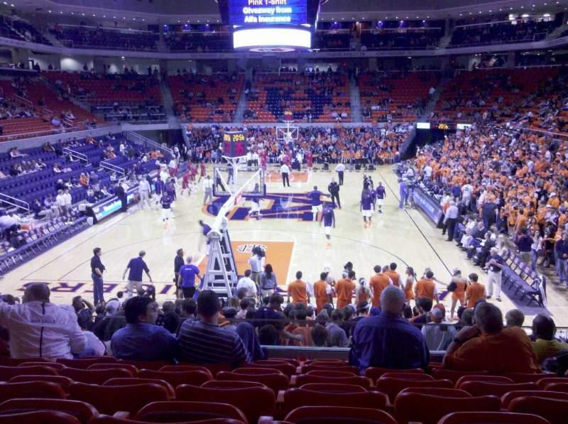 Auburn Arena, section: 107, row: 16, seat: 6