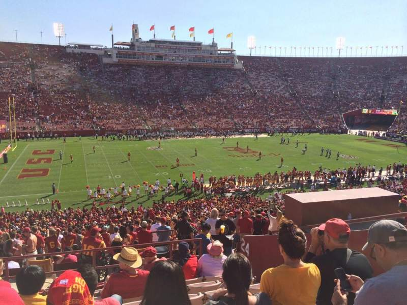 Seating view for Los Angeles Memorial Coliseum Section 24L