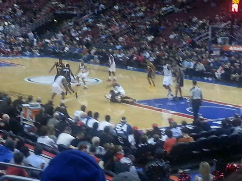 Seating view for Wells Fargo Center Section 104 Row 13 Seat 13