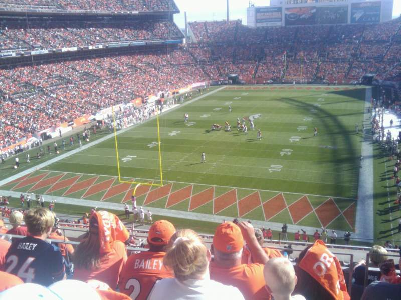 Seating view for Broncos Stadium at Mile High Section 321 Row 7 Seat 9