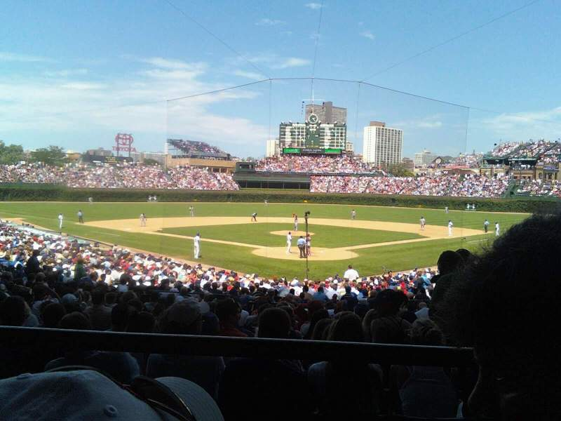 Seating view for Wrigley Field Section 217 Row 1 Seat 8
