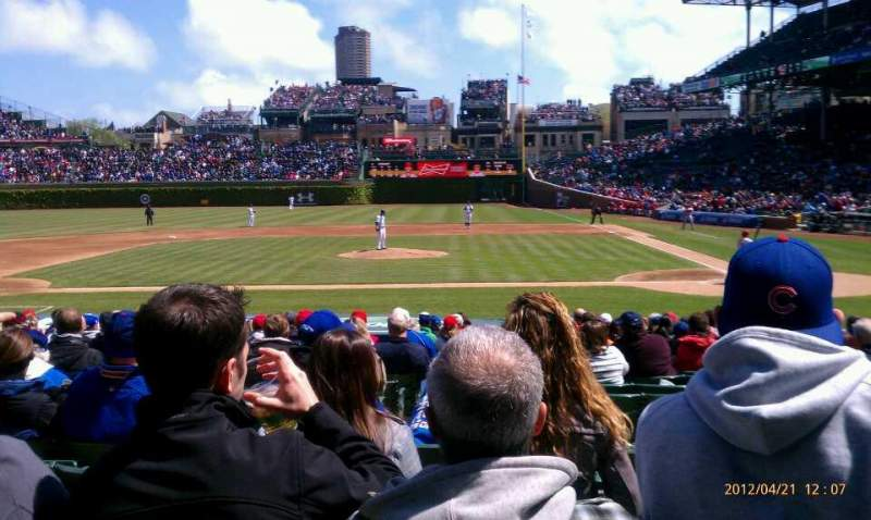 Seating view for Wrigley Field Section 115 Row 6 Seat 6