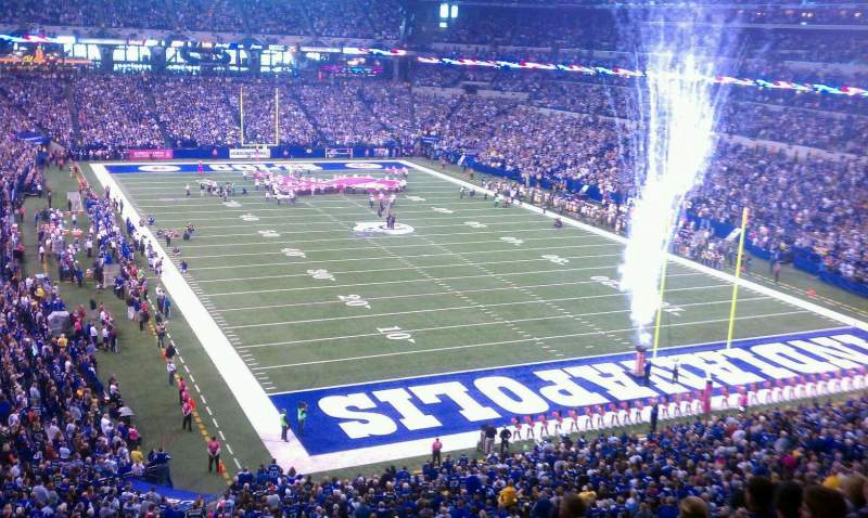 Seating view for Lucas Oil Stadium Section 429 Row 1 Seat 8