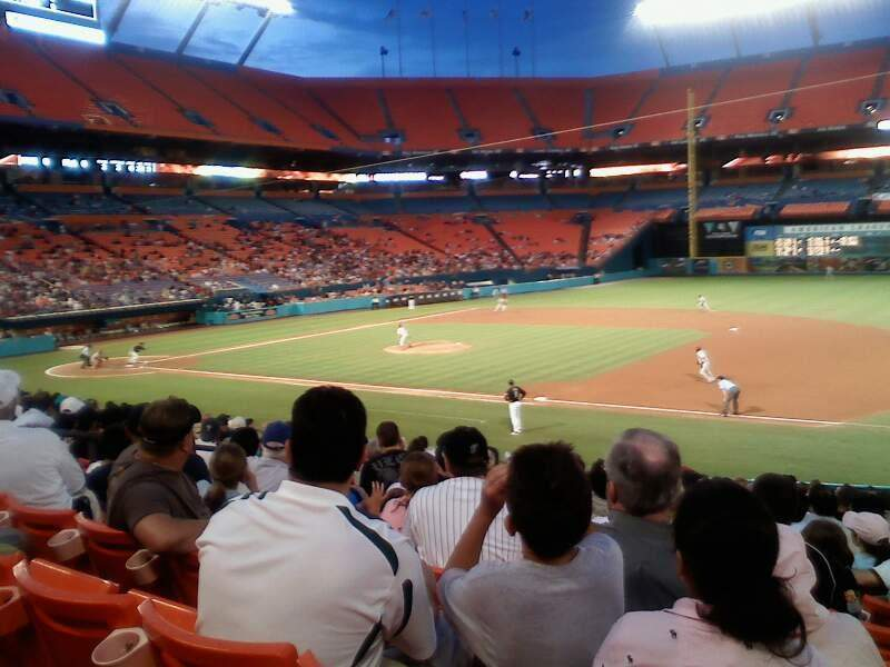 Seating view for Hard Rock Stadium