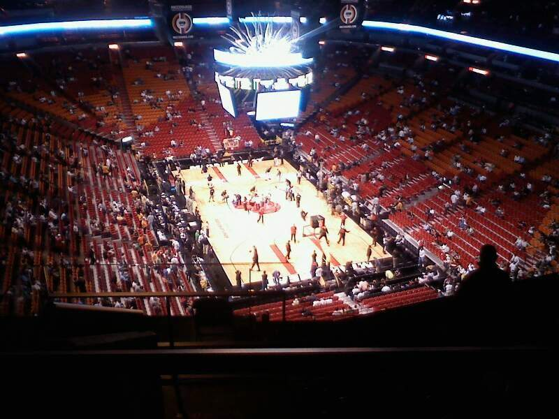 Seating view for American Airlines Arena Section 406