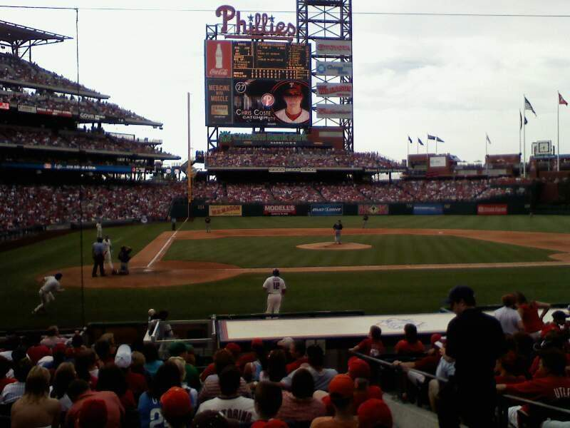 Seating view for Citizens Bank Park Section G Row 8 Seat 8