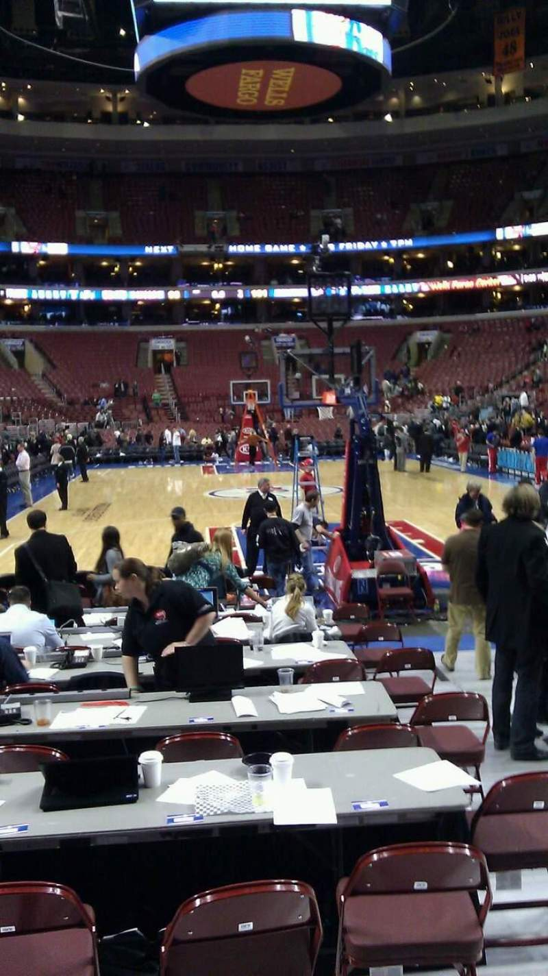 Seating view for Wells Fargo Center Section 119 Row 2 Seat 4