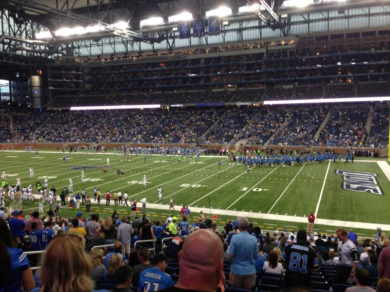 Seating view for Ford Field Section 131 Row 31 Seat 9