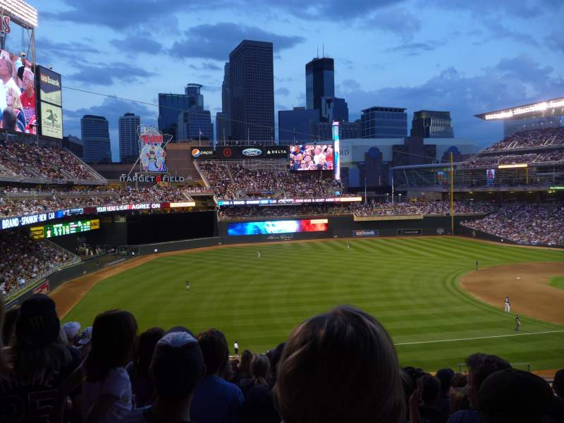 Seating view for Target Field Section T Row 11 Seat 5