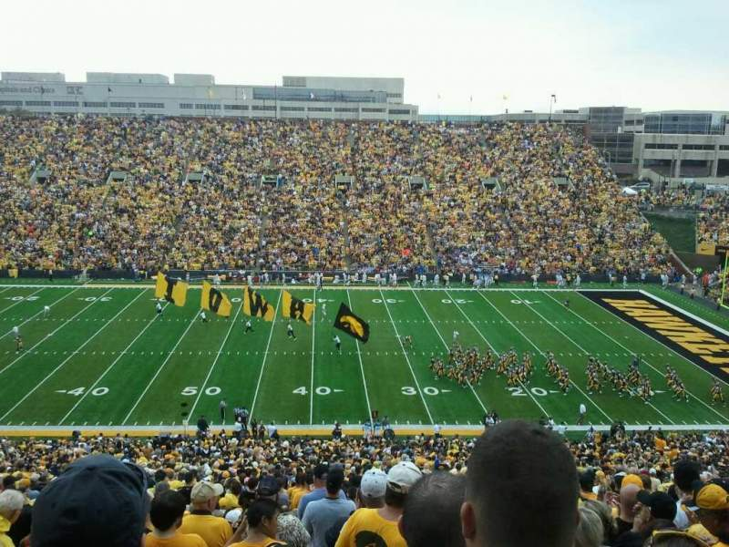 Seating view for Kinnick Stadium Section 126 Row 70 Seat 13