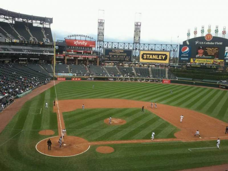 Seating view for Guaranteed Rate Field Section 329 Row 1 Seat 2