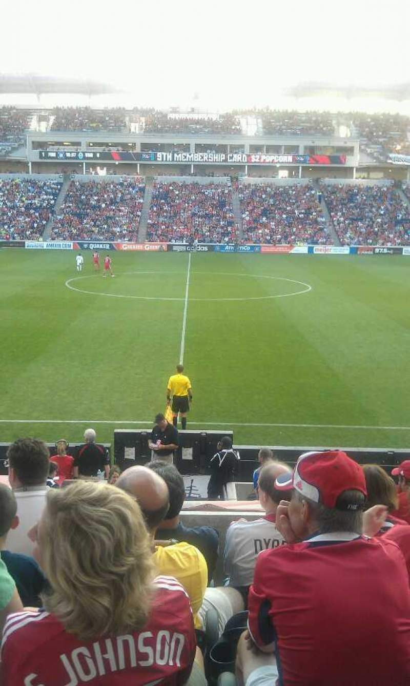 Seating view for Toyota Park Section 128 Row 14 Seat 12
