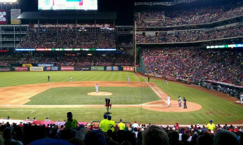 Seating view for Globe Life Park in Arlington Section 20 Row R Seat 2
