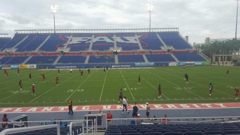 Seating view for FAU Stadium Section 104 Row 13 Seat 16