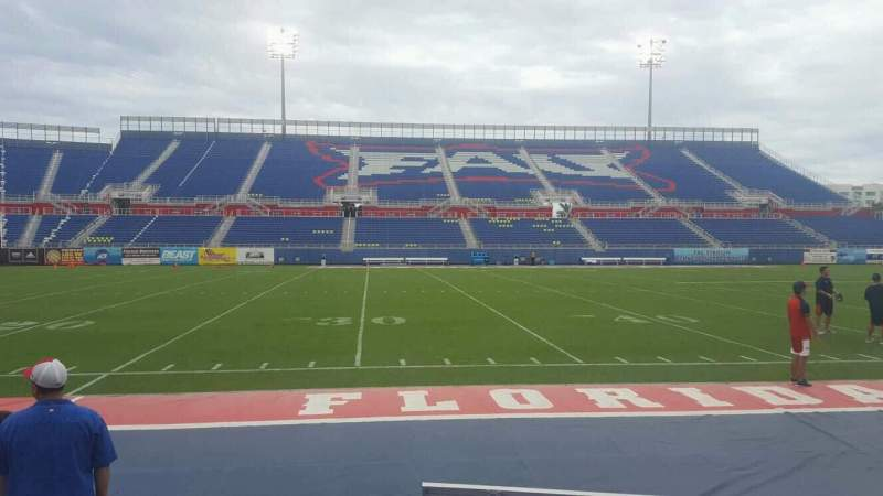 Seating view for FAU Stadium Section 107 Row A Seat 6